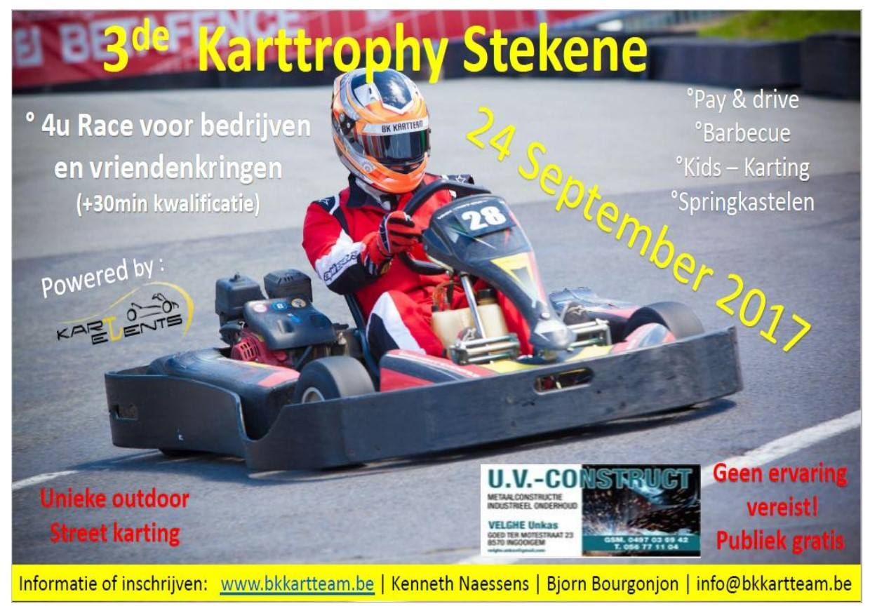 24 september 2017 : Karttrophy Stekene