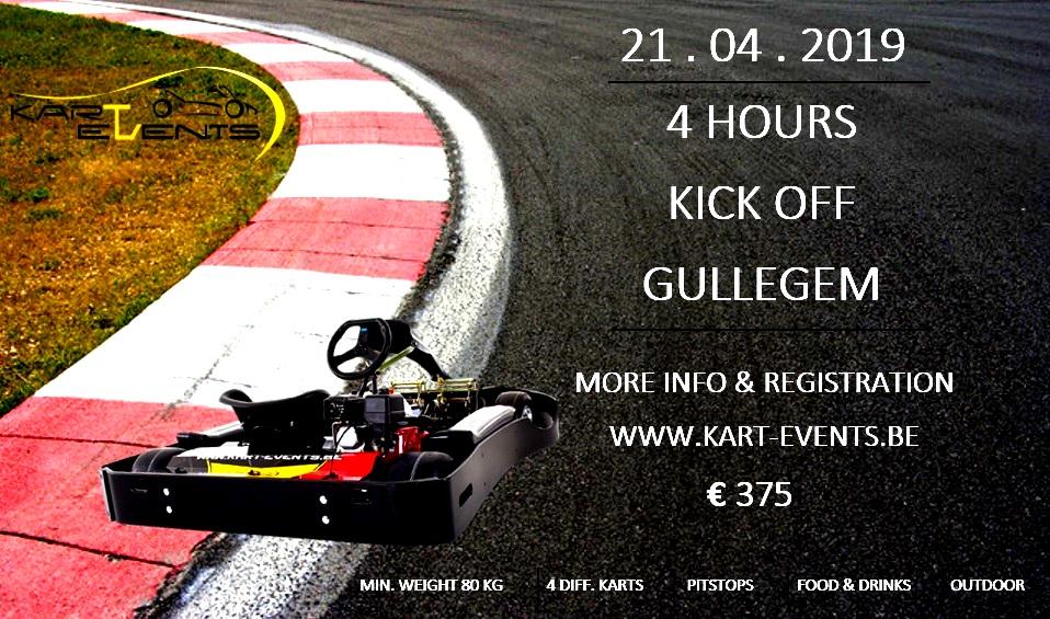21 april 2019 - Gullegem : Kick off karting : 4 hours