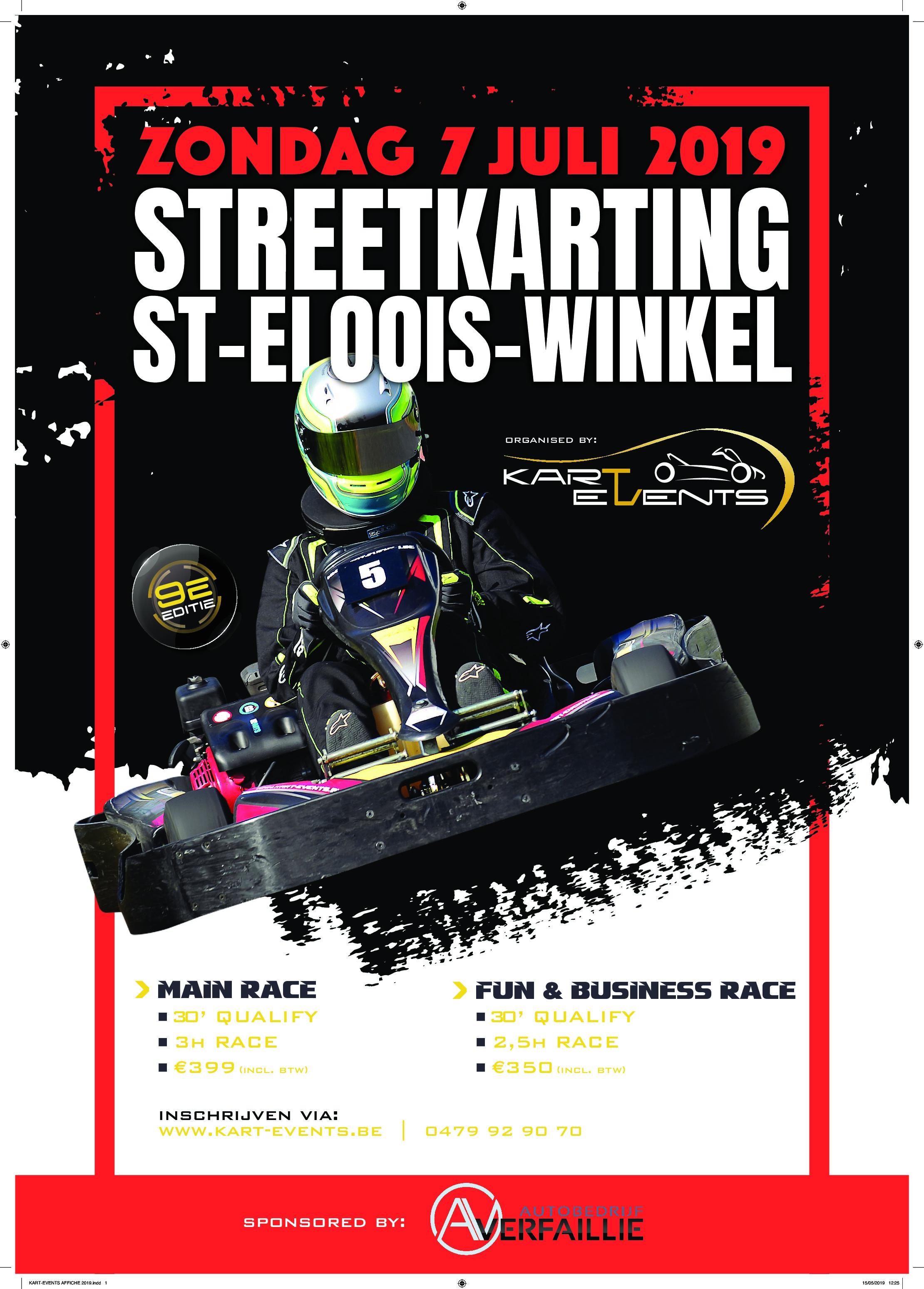7 juli 2019 : 9e editie Streetkarting Sint-Eloois-Winkel